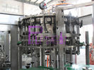 Botol bir 3-in-1 Membilas Filling Capping Machine, Liquid Filler Peralatan
