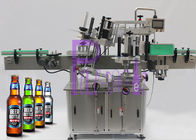 Double Sided Sticker Labeling Machine Untuk Akurasi Botol Glass Beer +/- 1mm