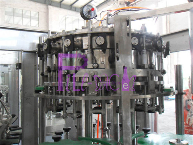 Beer Bottle 3-in-1 Rinsing Filling Capping Machine , Liquid Filler Equipment
