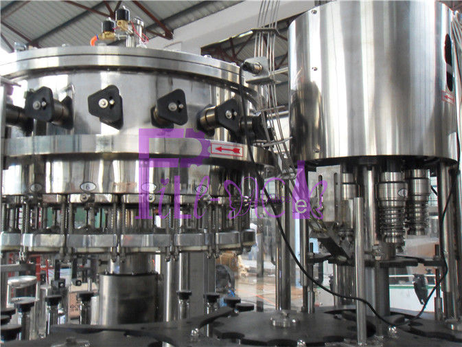 Food Grade Soft Drink Filling Line Glass Bottle Filler Machine Stainless Steel