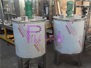 Automatic Juice Processing Equipment Tunggal Lapisan Stainless Steel 304 Mixing Tank
